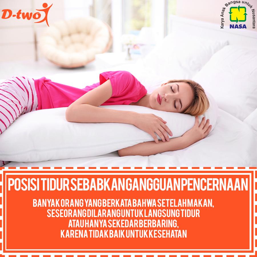 Posisi tidur Sebabkan Gangguan Pencernaan