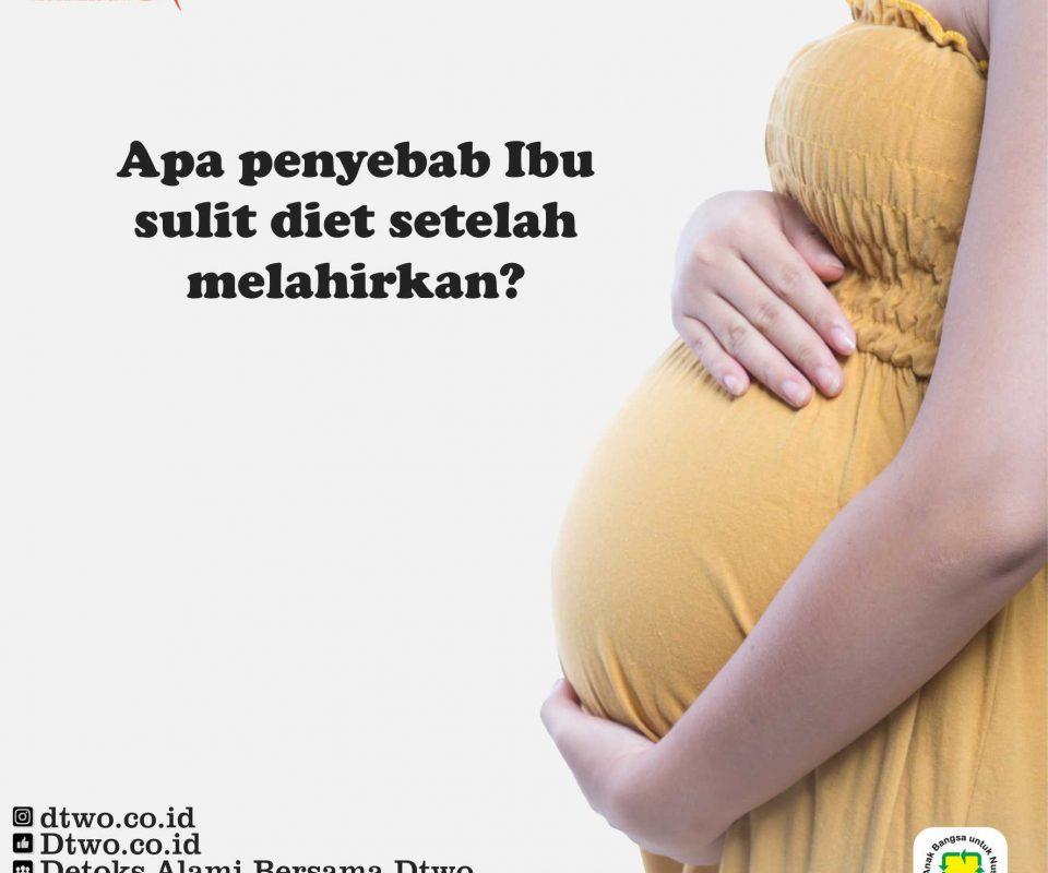 Penyebab Ibu Sulit Menurunkan Berat Badan Setelah Melahirkan